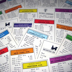 Monopoly deeds.