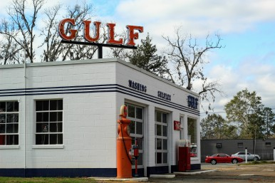 Gulf Station on US 90, Quincy, Florida